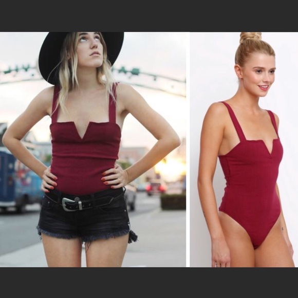 Free People Tops - Price Firm Free People Pippa V-Wire Bodysuit NWT